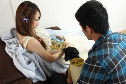 「向日葵と青空」マタニティペイント02